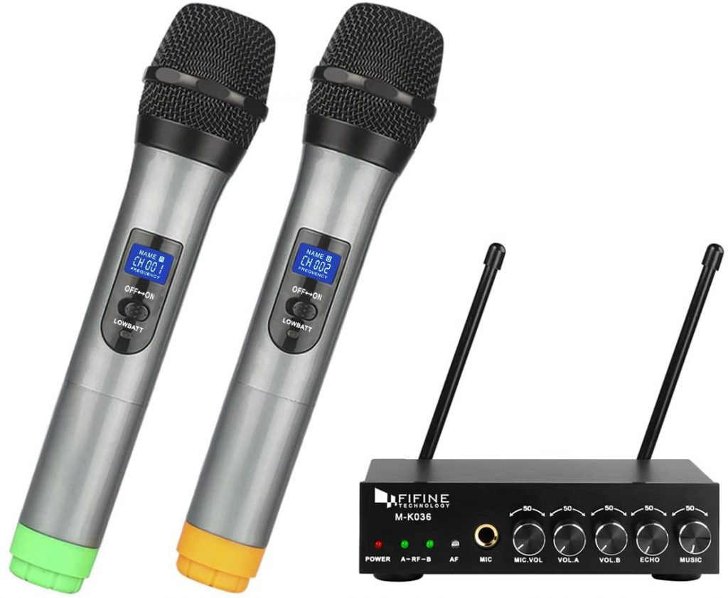 Fifine UHF Dual Channel Wireless Handheld Microphone