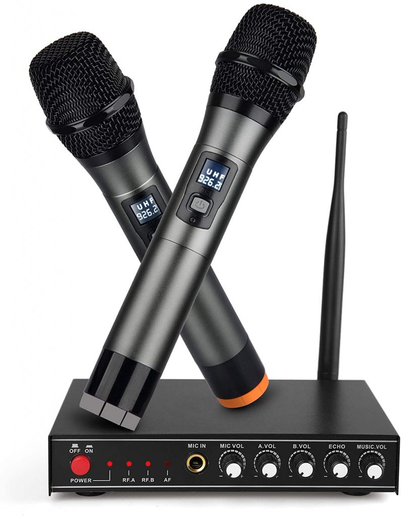 Frunsi Dual Cordless Handheld Microphone System