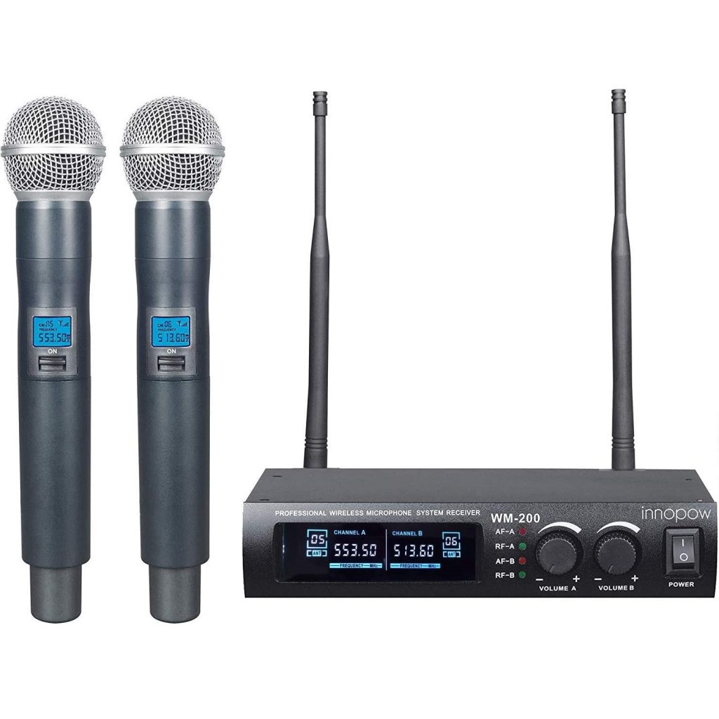 Innopow Metal Dual Wireless Microphone System Best Wireless Microphones For DJ
